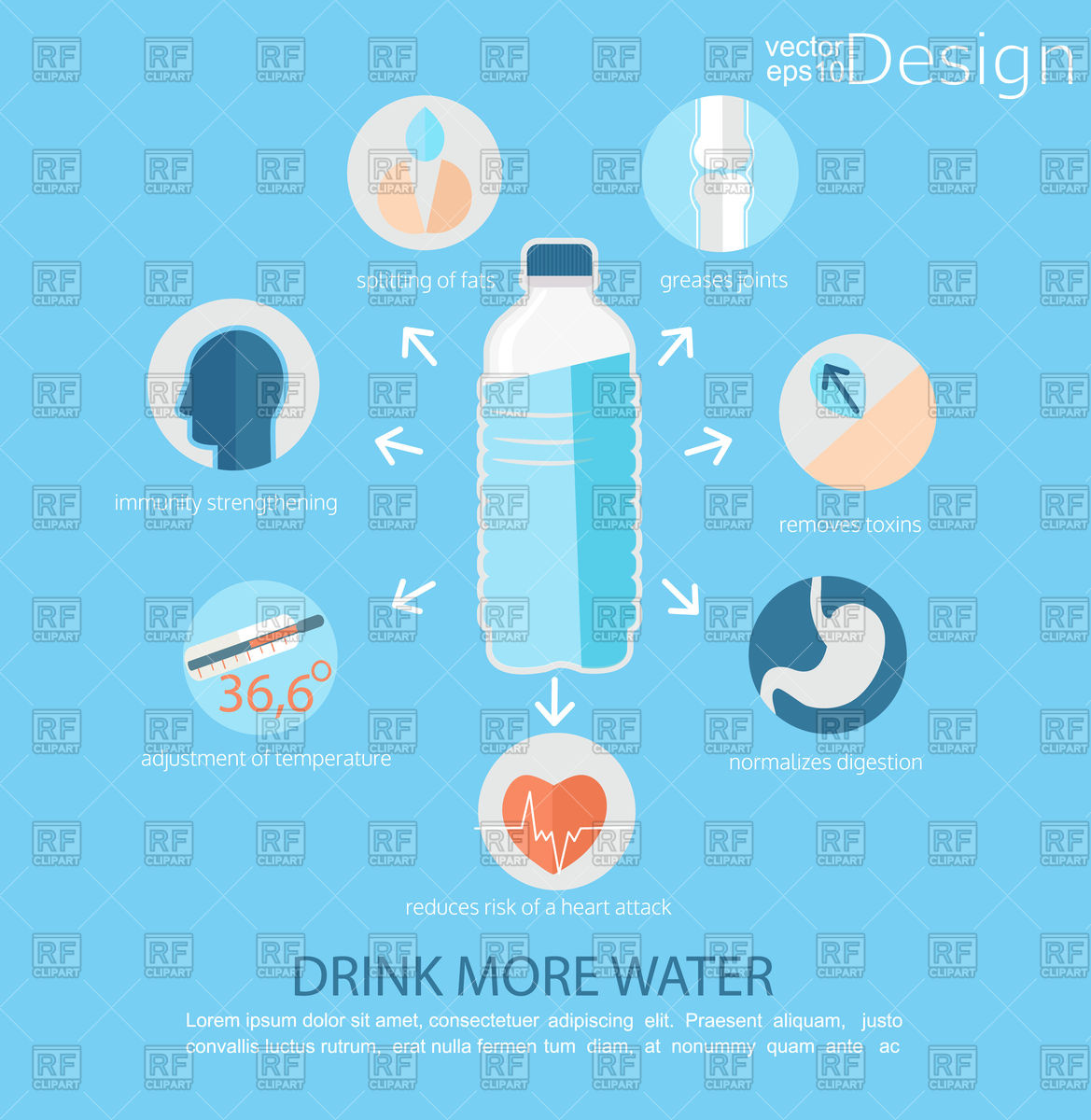 1169x1200 Drink More Water Infographic Poster