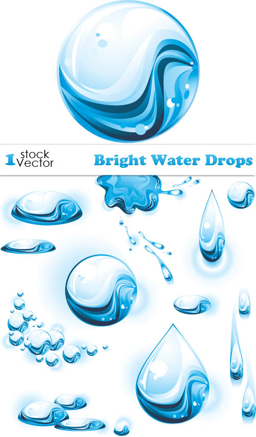 500x854 Set Of Bright Water Drops Vector Free Download