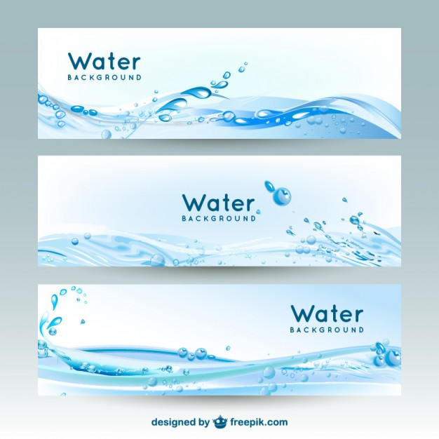 626x626 Water Banner Backgrounds Vector Free Download