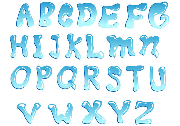 632x443 Blue Water Font Vector Free Vector Download 404119 Cannypic