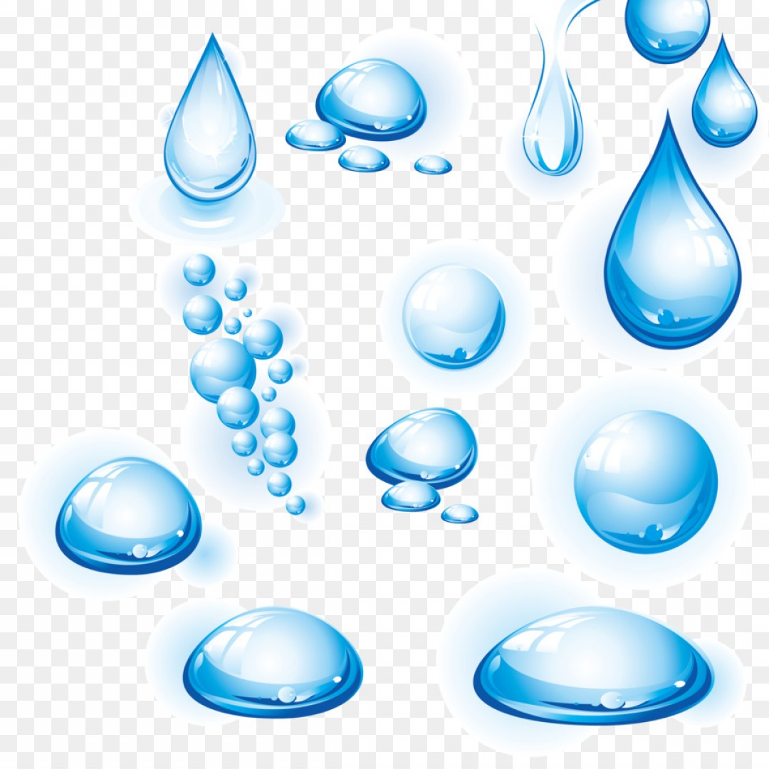 1080x1080 Png Drop Water Clip Art Blue Water Drops Vector Materi Shopatcloth