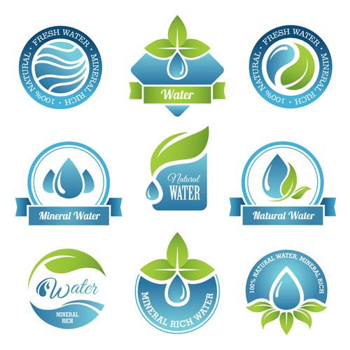 500x500 Round Water Logos Vectors Graphics Free Download