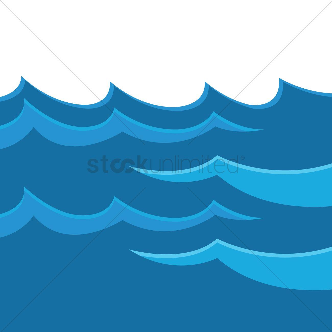 1300x1300 Water Waves Vector Image