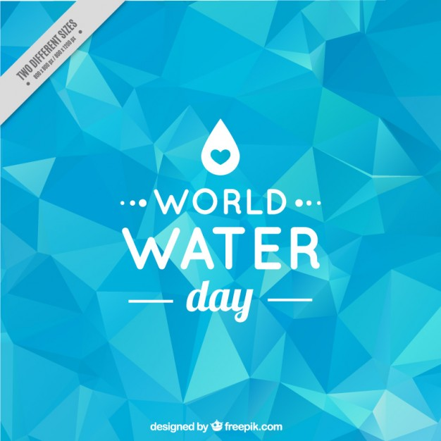 626x626 World Water Day Low Poly Background Vector Free Download