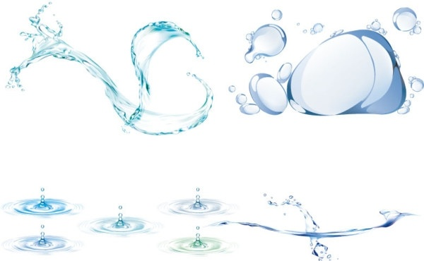 600x370 Four Dynamic Water Vector Free Vector In Adobe Illustrator Ai