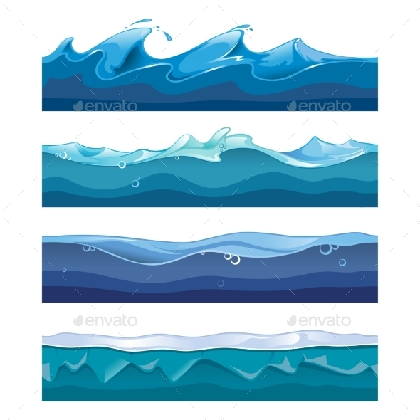 590x590 Seamless Ocean, Sea, Water Waves Vector By Neyro2008 Graphicriver