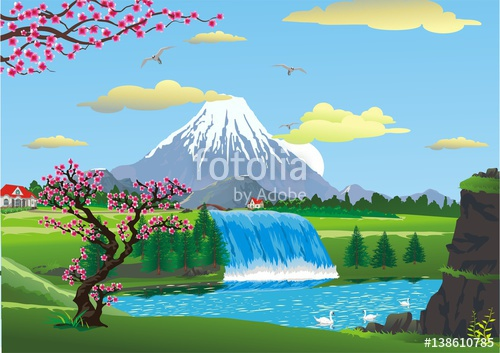 500x353 The Scenery Of Cherry Blossoms