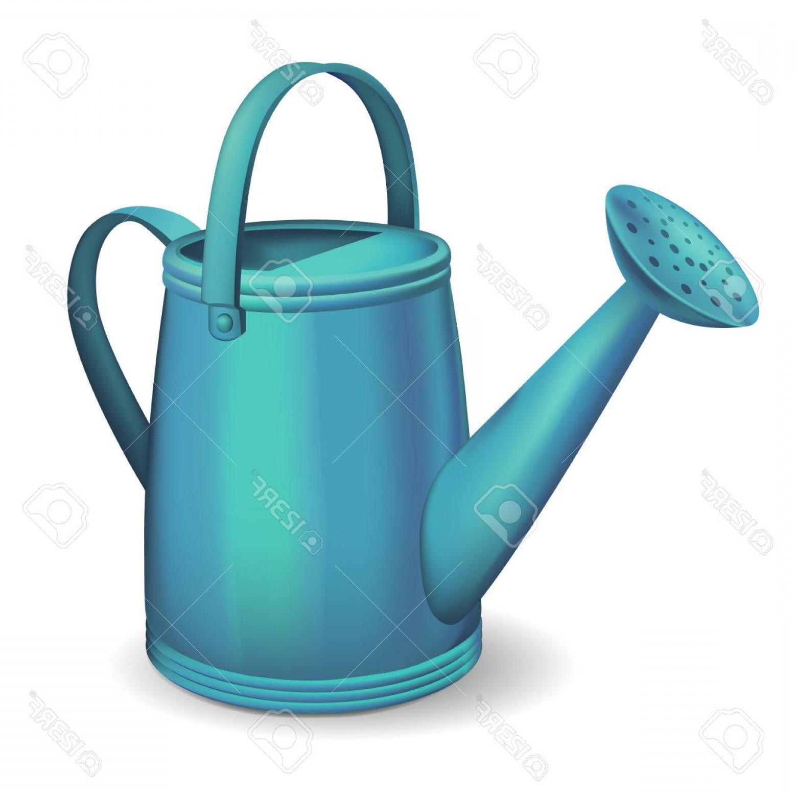 1560x1560 Photostock Vector Blue Watering Can Vector Illustration Shopatcloth