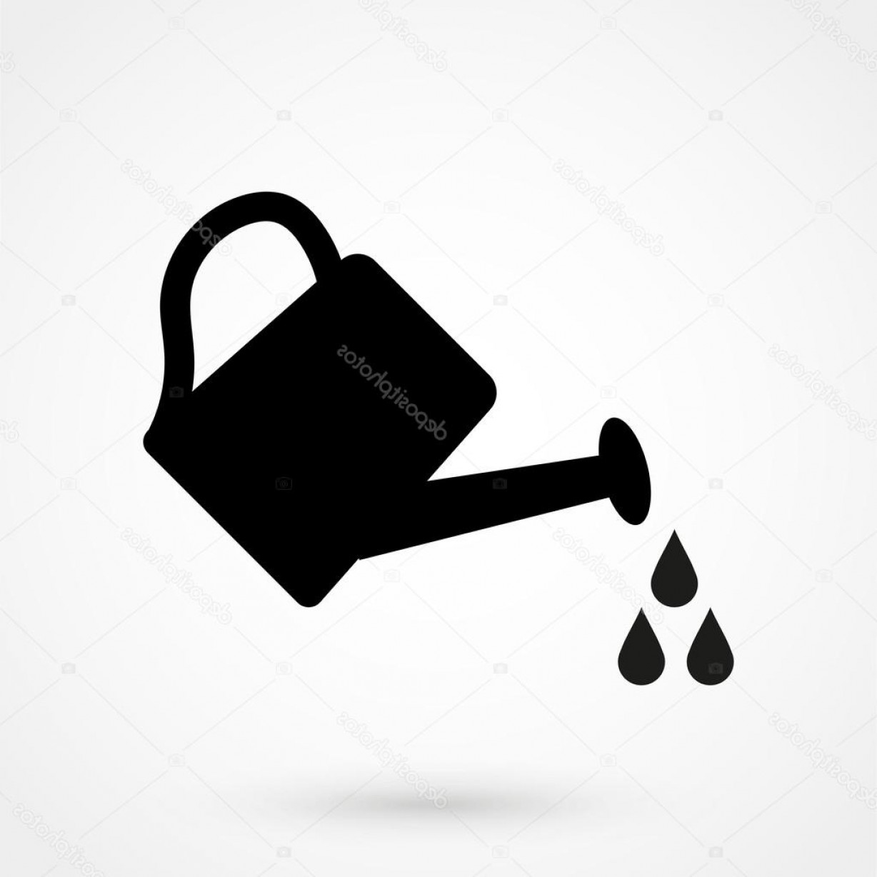 1228x1228 Stock Illustration Watering Can Icon Black Vector Shopatcloth