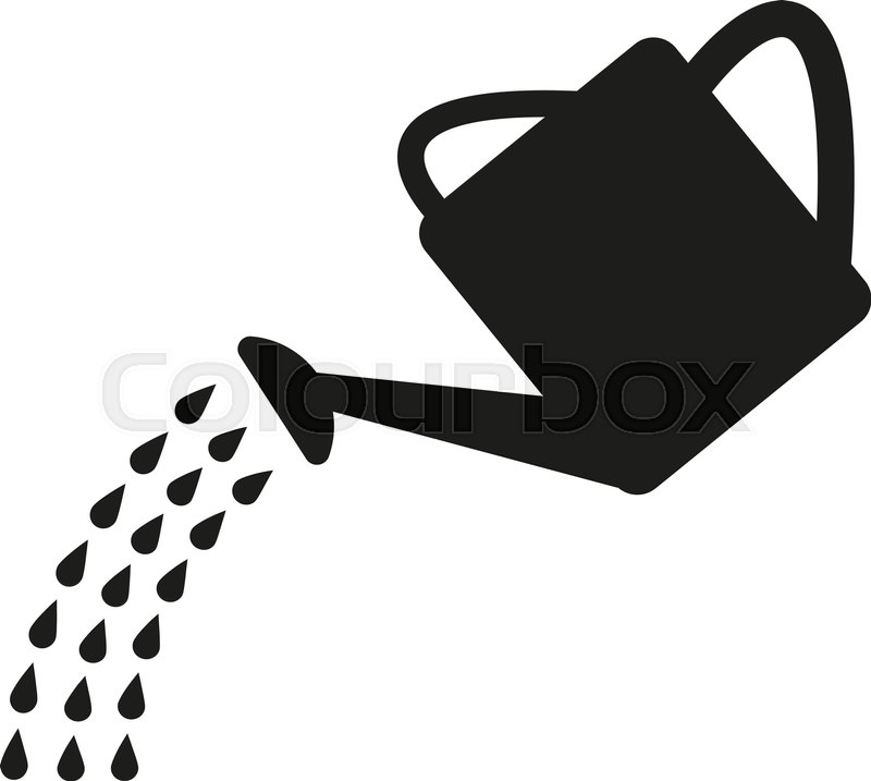 800x717 The Watering Can Icon. Irrigation Symbol. Flat Vector Illustration