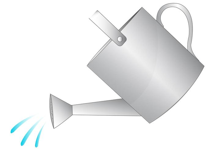 700x490 Watering Can Vector