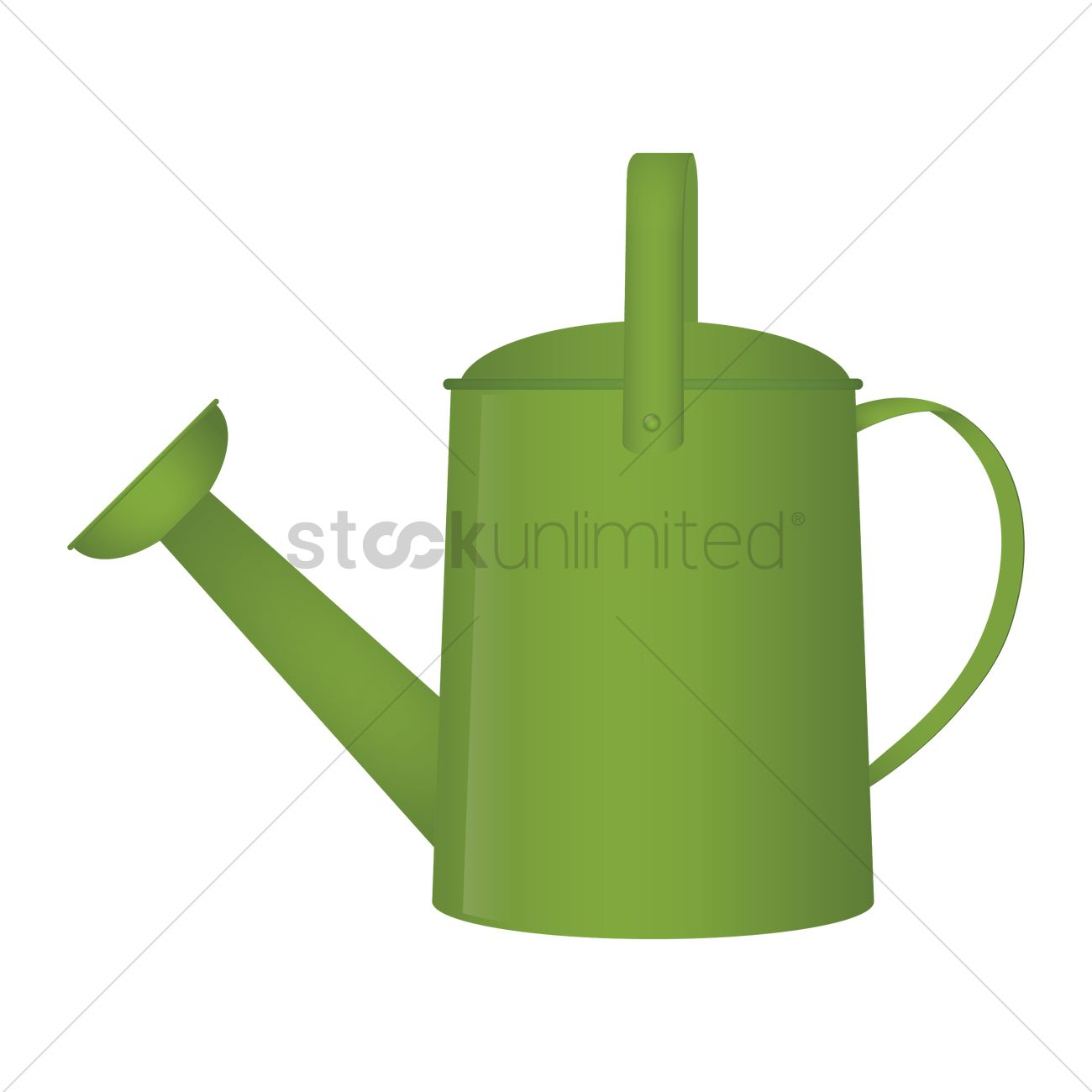1300x1300 Watering Can Vector Image