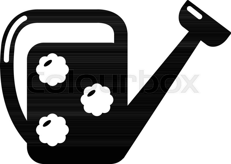 800x569 Watering Can Icon . Simple Illustration Of Watering Can Vector