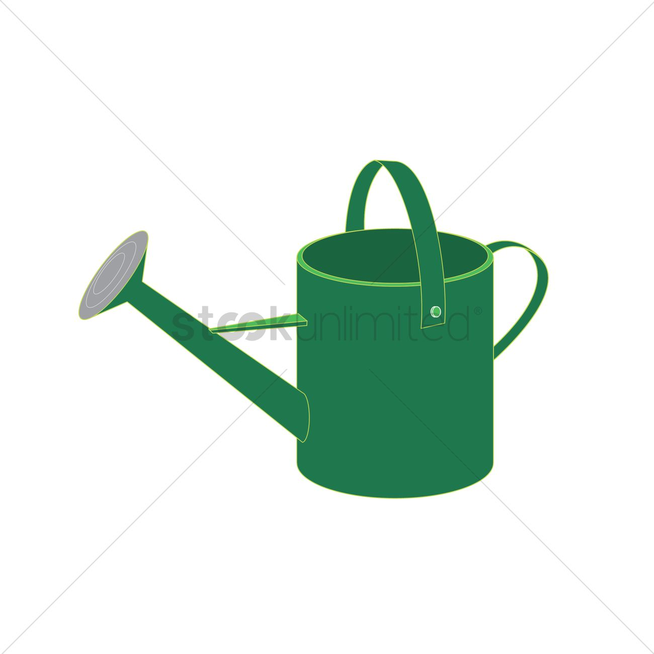 1300x1300 Free Watering Can Vector Image