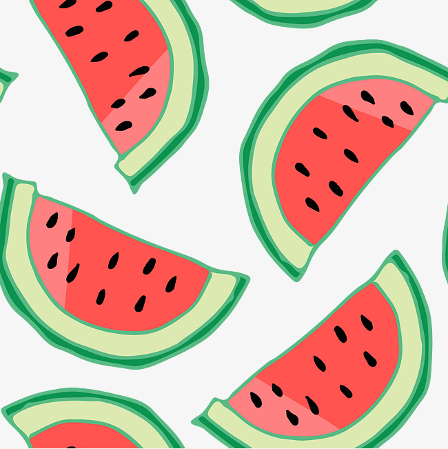 650x651 Cartoon Watermelon Vector Illustration, Cartoon, Small Fresh