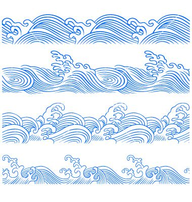Wave Border Vector
