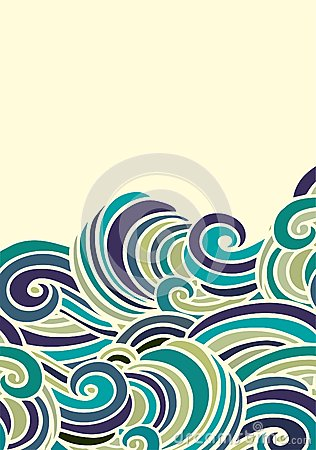 316x450 Half Seamless Wavy Pattern Border Wave Japanese Style Wave Border