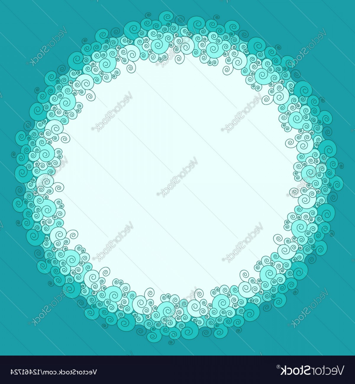 1200x1296 Round Frame Made Of Swirly Sea Wave Border Vector Shopatcloth
