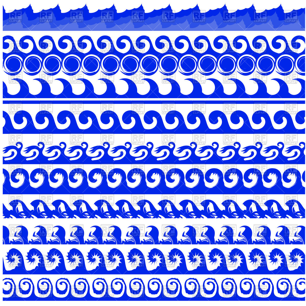 1200x1200 Sea Waves Borders