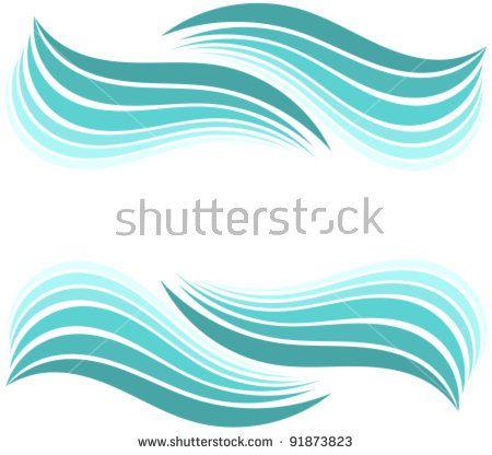 450x416 Water Waves Border. Vector Illustration Design Inclusive