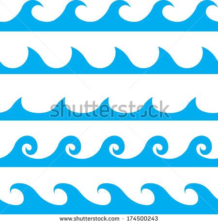 450x463 Wave Border Vector (7 Photos)