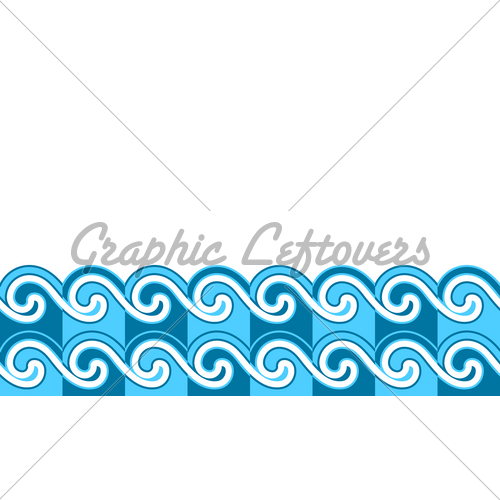500x500 Waves Border Gl Stock Images