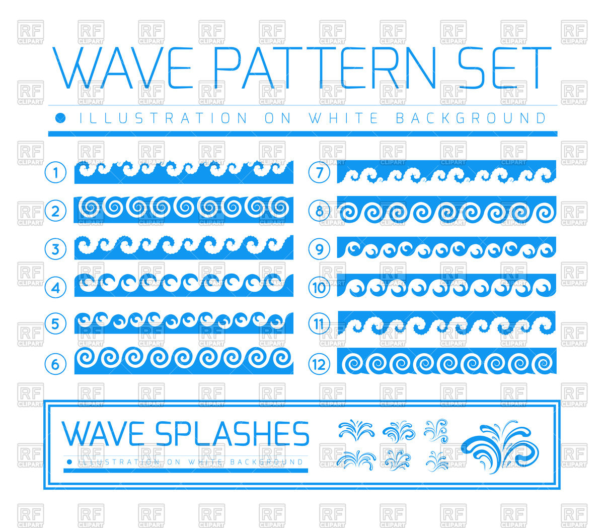 1200x1048 Waves And Splashes Borders Vector Image Vector Artwork Of