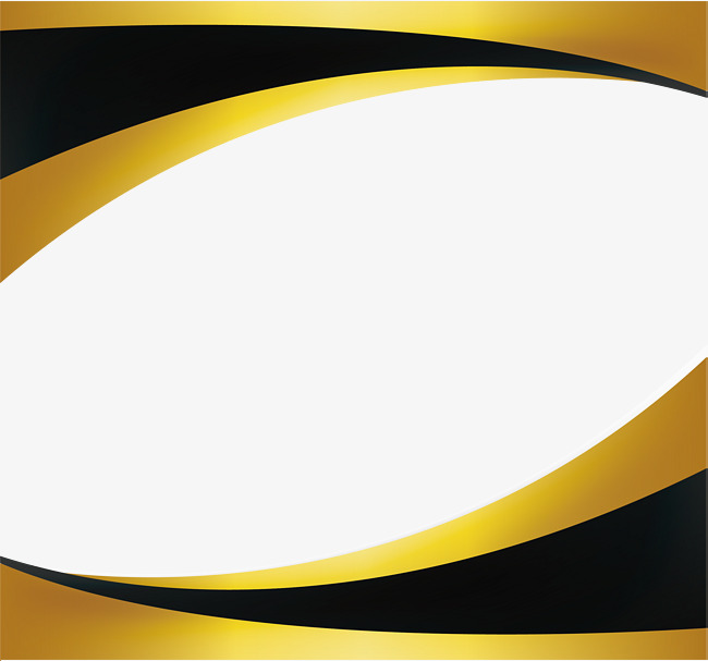 650x607 Black Gold Wave Border, Vector Png, Big Waves, Wave Border Png And
