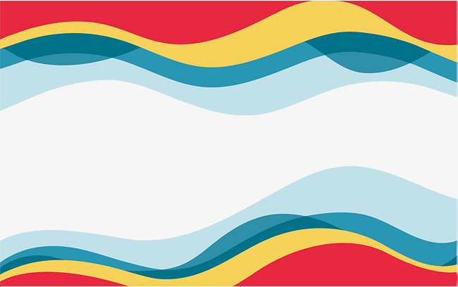 650x408 Colorful Wave Border, Wave Vector, Border Vector, Vector Png Png
