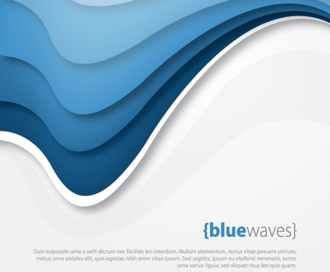 1136x936 Blue Waves Vector Art Amp Graphics