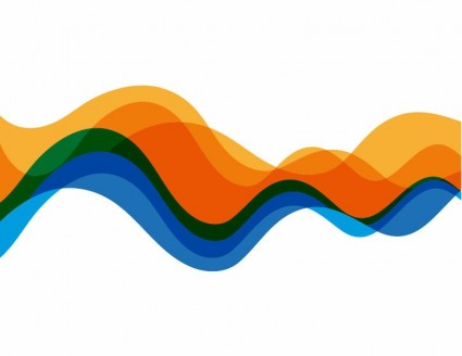 425x328 Vector Waves Color Background Graphic Abstract Vector Graphics