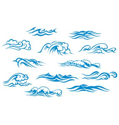 380x400 Ocean Wave Graphic