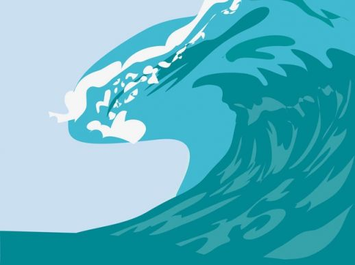 518x386 Big Wave Vector