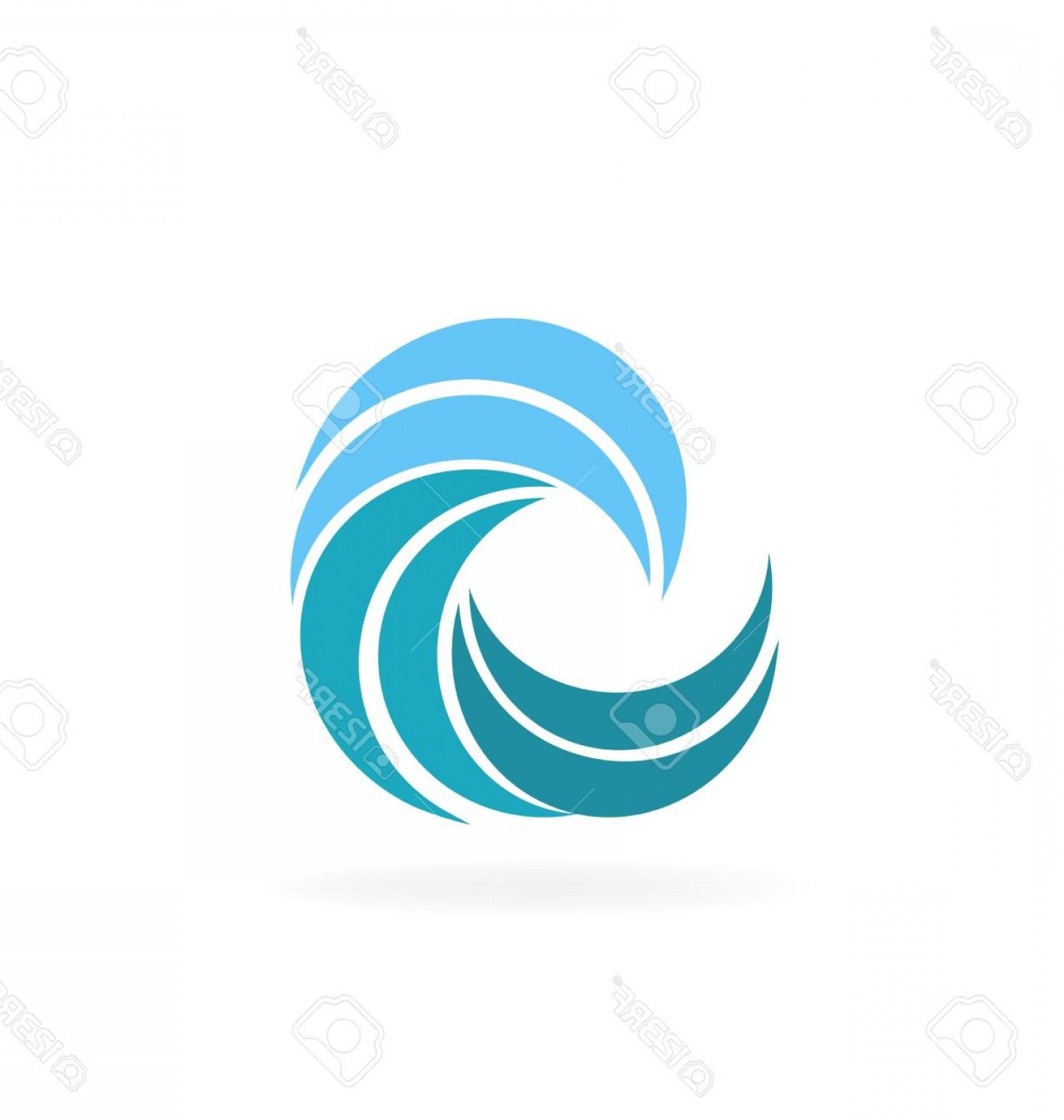 1482x1560 Photostock Vector Blue Beach Waves Icon Vector Graphic Design