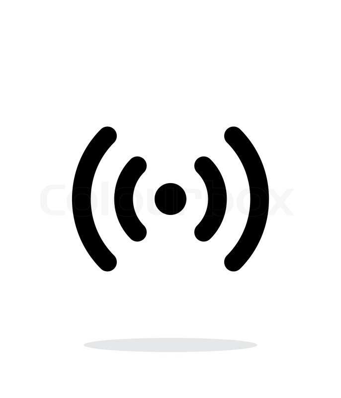 686x800 Radio Waves Icon On White Background. Wireless Technology. Vector