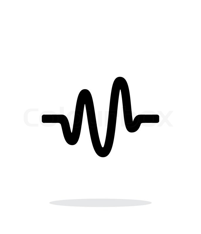 686x800 Sound Wave Icon On White Background. Vector Illustration. Stock