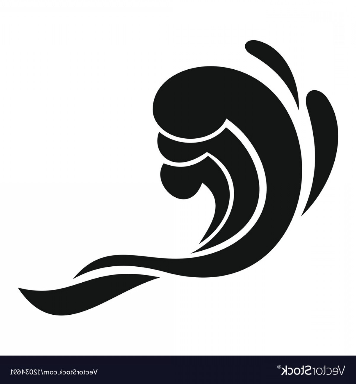 1200x1296 Water Wave Icon Simple Style Vector Shopatcloth