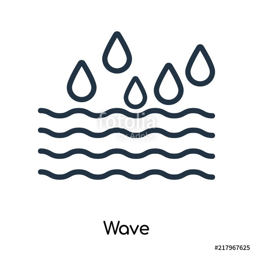 500x500 Wave Icon Vector Isolated On White Background, Wave Sign , Thin