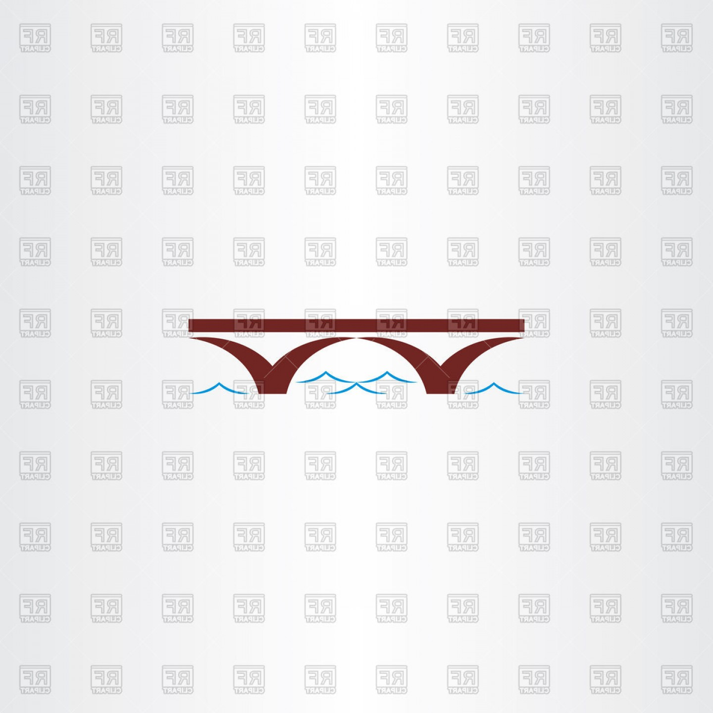 1440x1440 Bridge And River Wave Icon Vector Clipart Sohadacouri