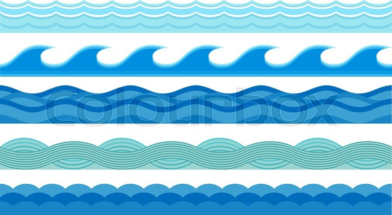 800x440 Nature Waves And Sea Horizontally Waves. Waves Design Pattern