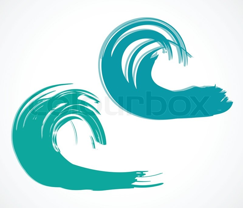 800x685 Two Of Wave Vector Illustration Stock Vector Colourbox