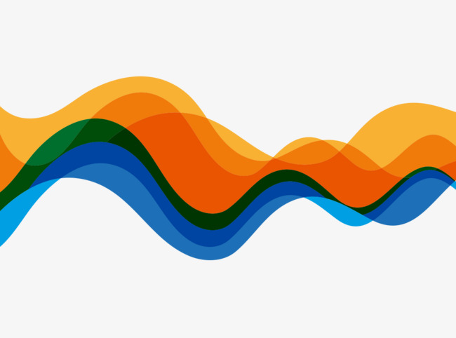 650x482 Vector Illustration Color Gradient Yellow And Blue Waves, Color
