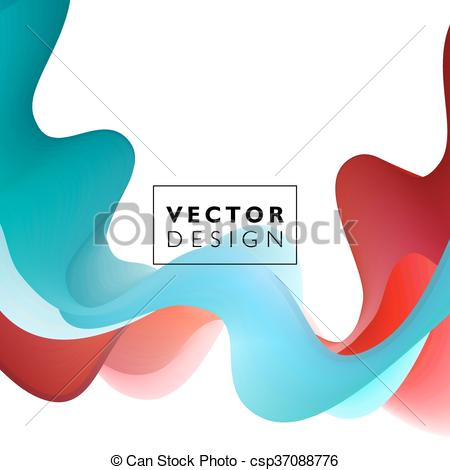 450x470 Abstract Smooth Wave Motion Illustration. Abstract Smooth Color