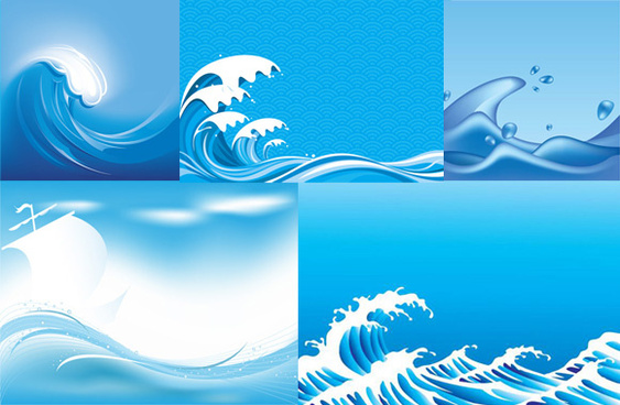 563x368 Blue Wave Background Eps Free Vector Download (187,369 Free Vector