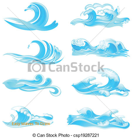 450x470 Easy Waves To Draw Waves Collection Easy To Edit Vector