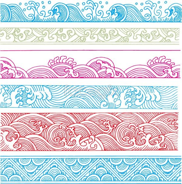 600x607 Classical Wave Pattern Vector Borders Amp Patterns