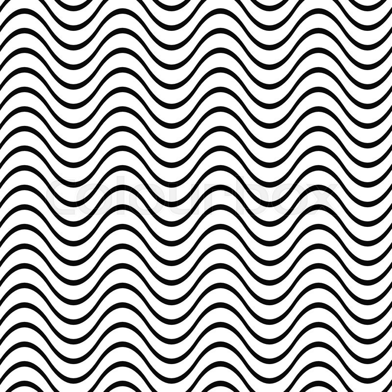 800x800 Repeating Black And White Wave Line Pattern Stock Vector Colourbox