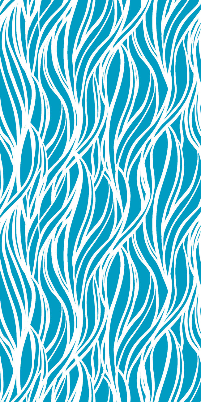 650x1300 Wave Pattern Seamless Background, Blue Waves Pattern, Stripe