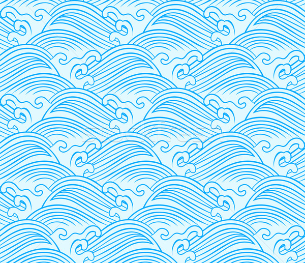 600x517 Seamless Ocean Wave Pattern Vector Illustration Sau Kit Lai