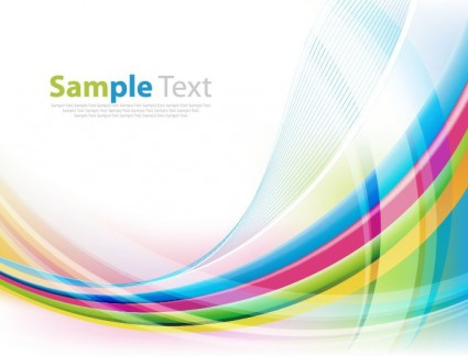425x324 Abstract Colorful Background With Wave Vector Illustration Vector